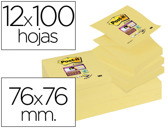 BLOCO DE NOTAS ADESIVAS POST-IT SUPER STICKY 76X76 MM ZIGZAG COM 12 BLOCOS