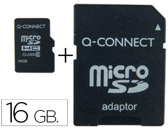 Memoria q-connect flash micro sd classe 6 com adaptador 16gb