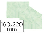 ENVELOPES FANTASIA MARMOREADOS VERDE 160X220 MM 90 GR EMBALAGEM DE 25