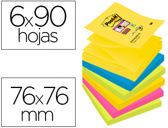 BLOCO DE NOTAS ADESIVAS POST-IT SUPER STICKY 76X76 MM COM 90 FOLHAS