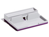 ORGANIZADOR SECRETARIA DURABLE VARICOR SMART OFFICE PLASTICO CINZA/ROXO 50X190X240MM