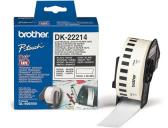 ETIQUETAS CONTINUAS BROTHER DK22214 BRANCO 12 MM X 30,48 MT PAPEL TERMICO