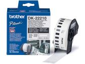 ETIQUETAS CONTINUAS BROTHER DK22210 BRANCO 29MM X 30,48M PAPEL TERMICO
