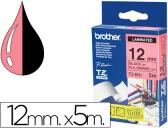FITA BROTHER TZ-B31 LAMINADA LARANJA/FLUORESCENTE-PRETO 12MM X 5M