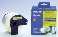 ETIQUETAS CONTINUAS BROTHER DK44605 AMARELO 62 MM X 30,48 MT PAPEL TERMICO